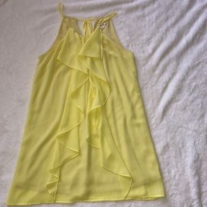 Yellow polyester dress